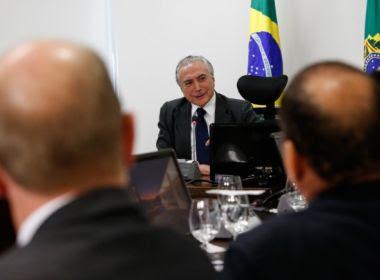 Após angioplastia, Presidência confirma retorno de Temer às atividades nesta segunda