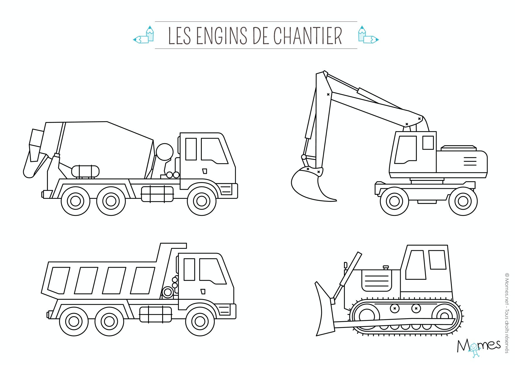 Coloriage Camion Momesnet