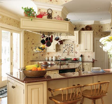 colors option  country kitchen wallpaper theydesign