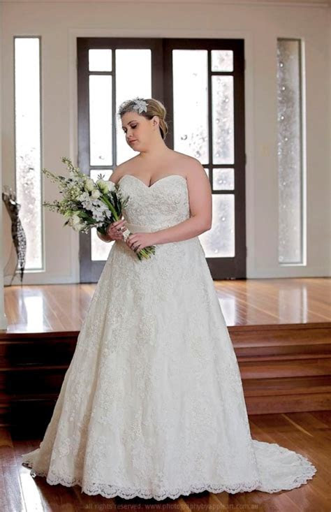 Plus Size wedding dress styled by a seamstress