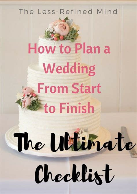 A Detailed Wedding Checklist: How to Plan a Wedding from