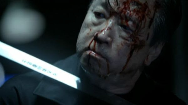 Cheng Zhi (Tzi Ma) is about to meet his fate by way of a Samurai sword welded by Jack Bauer in the 24: LIVE ANOTHER DAY finale.