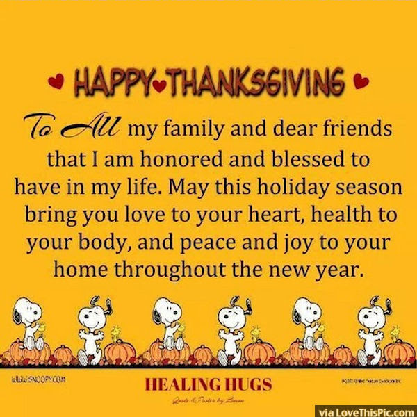 Happy Thanksgiving To All My Friends And Family Pictures Photos