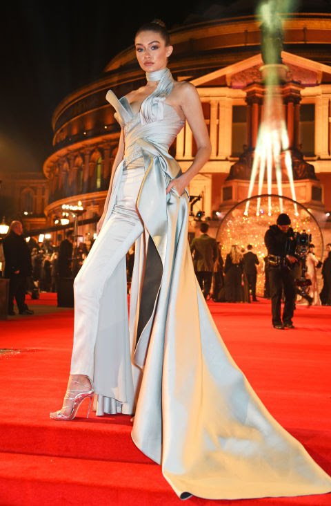 gigi hadid britsh fashion awards versace