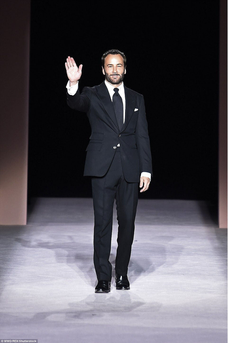 Muito bem feito: Tom Ford, 56 anos, lançou seu rótulo de luxo em 2006 depois de trabalhar anteriormente em Gucci e Yves Saint Laurent como Diretor criativo