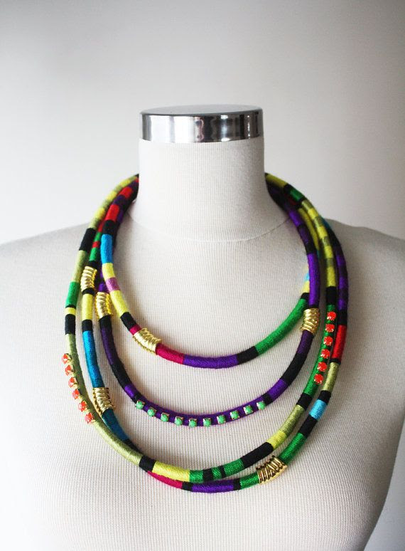 Masai Jewelry Multistrand Necklace African Multicolor by elifus, $79.80