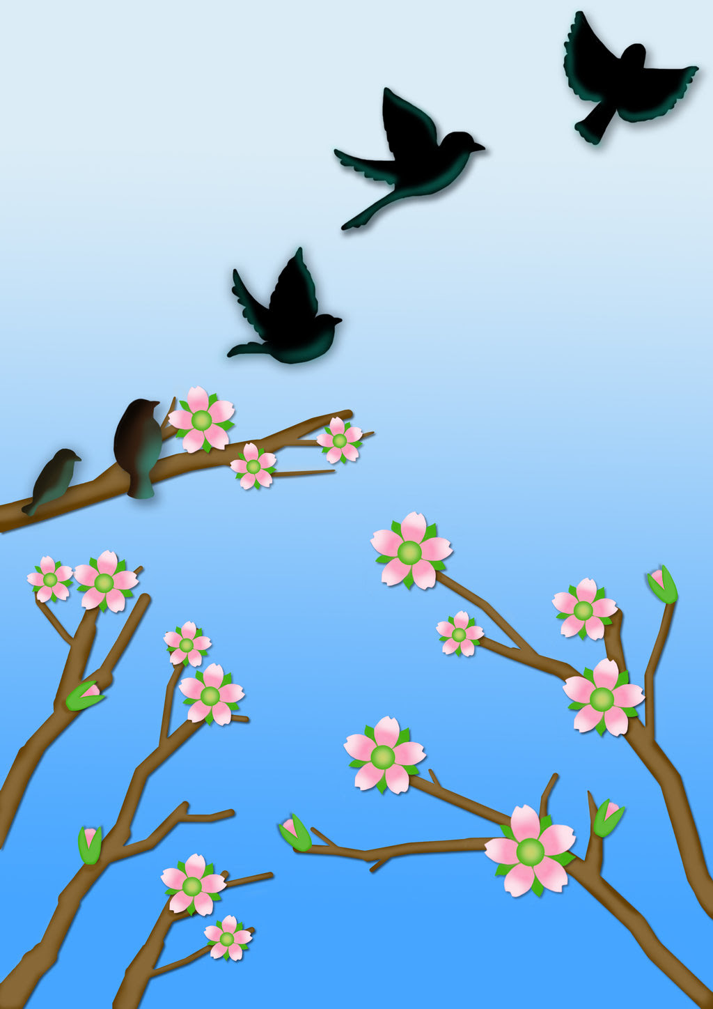 Image result for silhouette birds fly