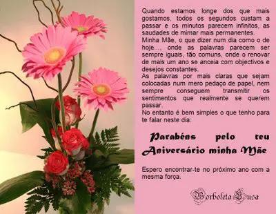 Mensagem Aniversário Mãe Cartão E Poema Mensagens Cultura Mix