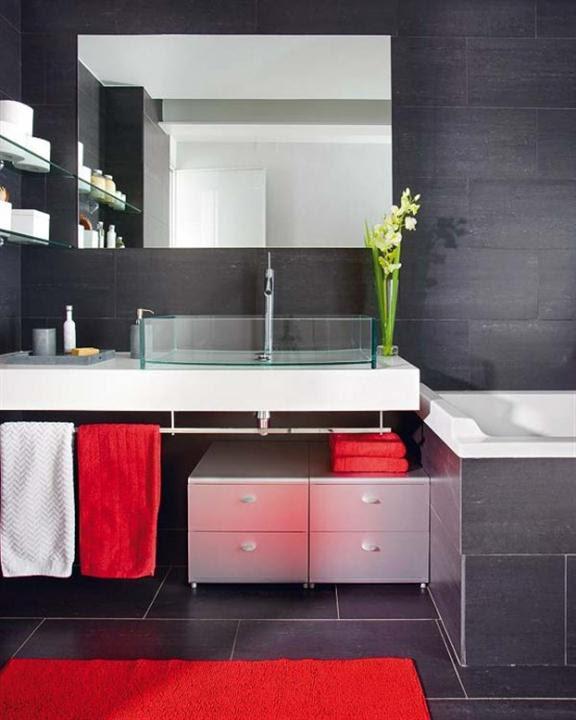 black-white bathroom lighting