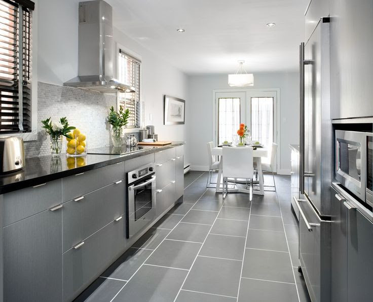 Grey cabinets with black counters? (wood floors ...