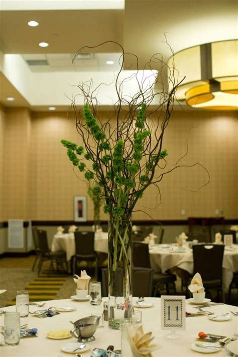 Bells of Ireland and Curly willow   My Centerpieces
