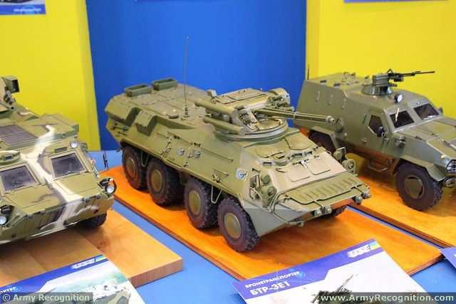 Una versión mejorada del BTR-3E1 Armored Personnel Carrier fue presentado en la Exposición KADEX-2014 en Kazajstán. Esto fue informado por Sergii Tuzov, Jefe de la División de Kiev Planta Armored Marketing, siendo incorporado con preocupación Ukroboronprom Estado.