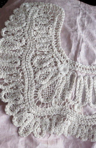 1/4 finished with needle lace filling