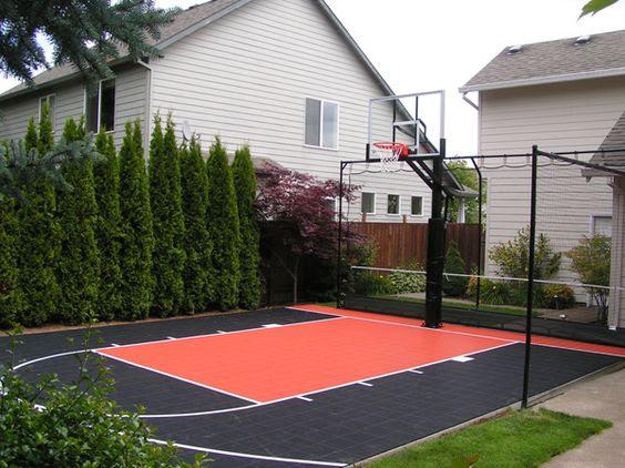 backyard basketball court ideas 23