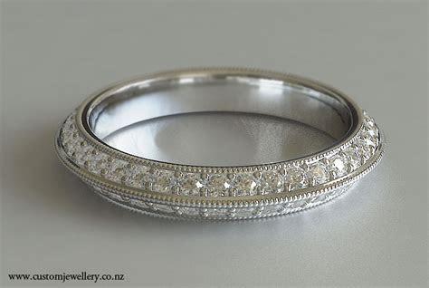 Diamond Wedding Band Milgrain Knife Edge New Zealand