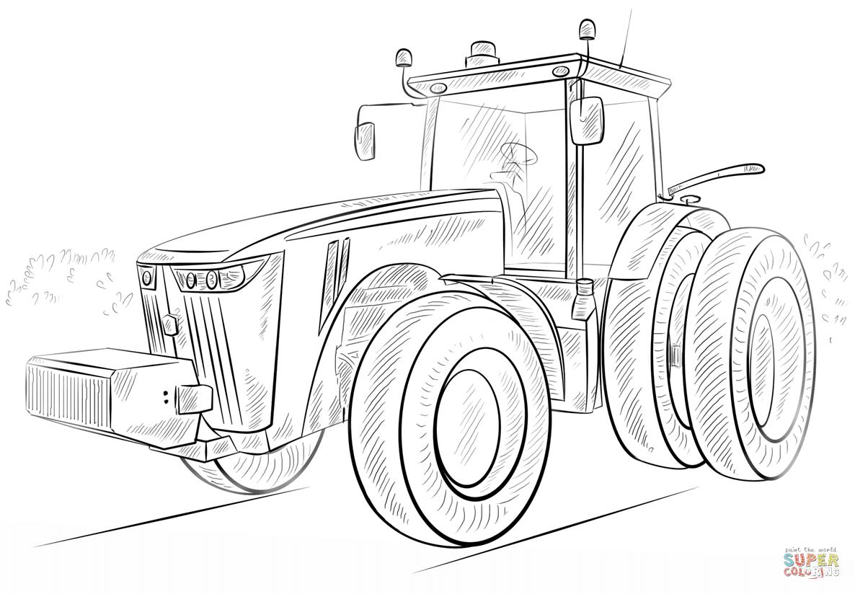 er sur la Tracteur John Deere coloriages