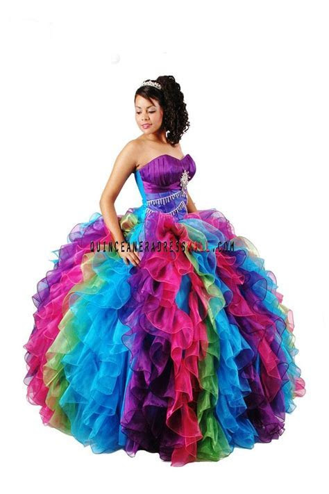 rainbow sweet 16 dresses   Dresses Cheap Quinceanera 15