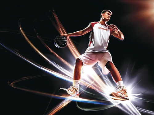 Artist depiction of Yao Ming wearing his new, limited edition shoes