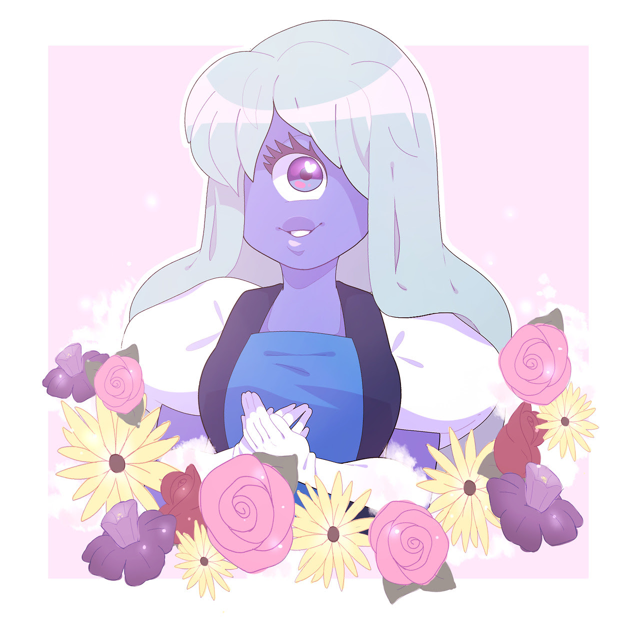 tried to color different but it dont look any diff from my usual stuff oh well have a cute sapphire