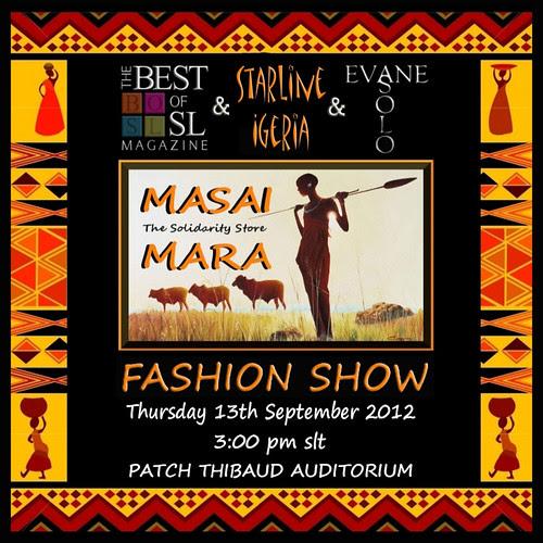 Masai Mara Fashion Show by Ellendir Khandr MMV 2012 Miss Costa Rica