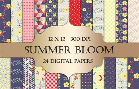 Floral Backgrounds: 160  Free Digital Papers to Collect
