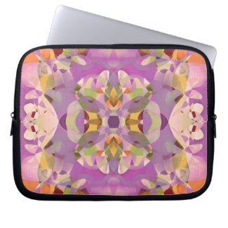 Butterfly Blossoms in Magenta Laptop Computer Sleeves