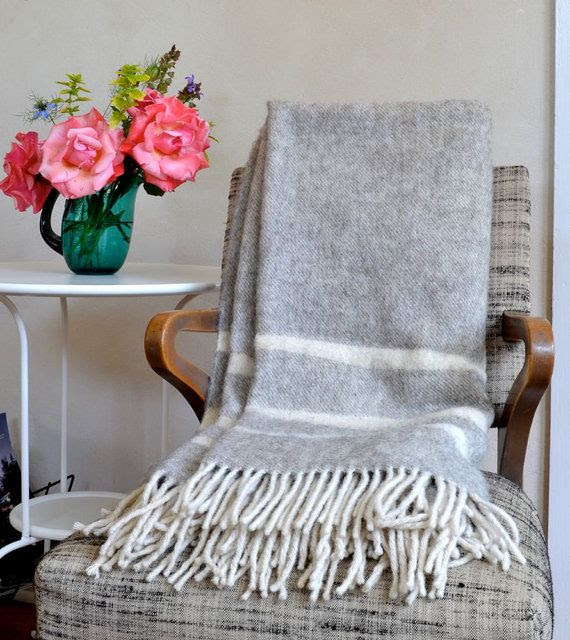 Vintage Wool Throw Early's of Witney English Plush by ohthisnose, $75.00