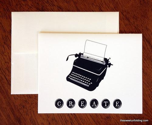 Typewriter-Greeting-Card