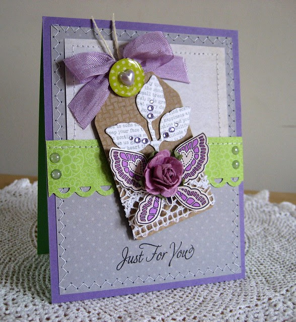 JUST FOR YOU TAG CARD SIDE VIEW