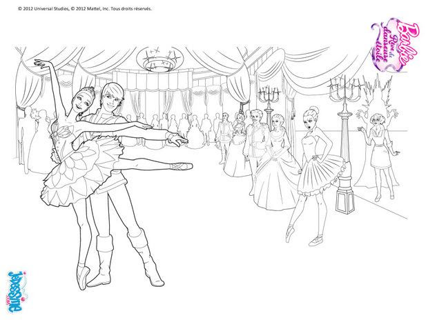 Coloriages Barbie Danseuse étoile à Dessiner Frhellokidscom
