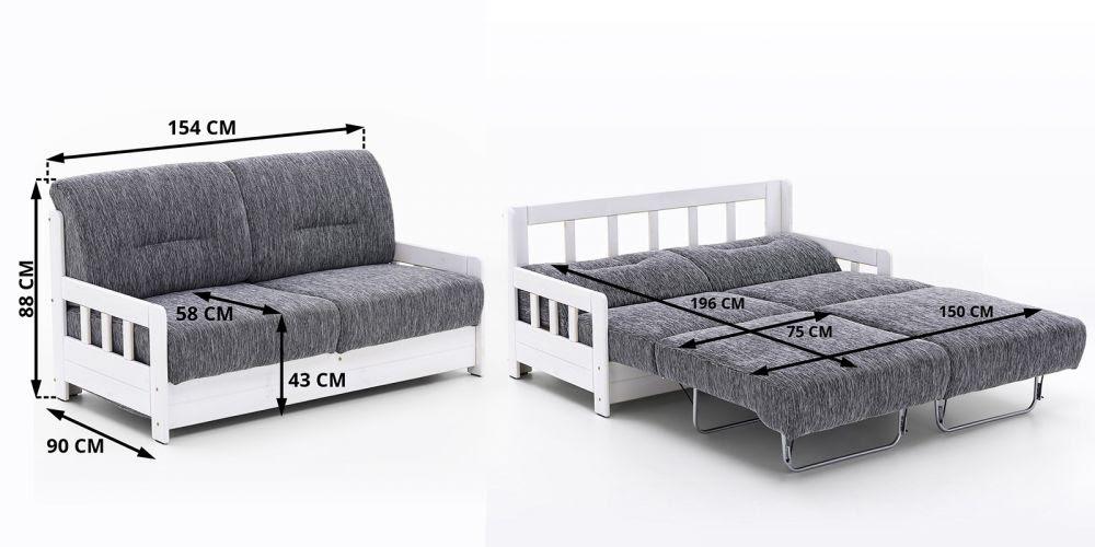 Sofa z funkcją spania 2- osobowa model Campus - sklep ...