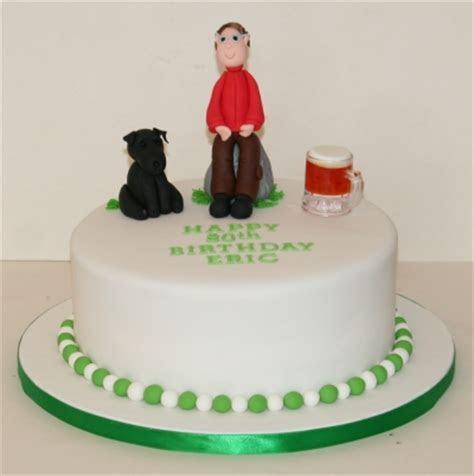 Man & his dog 80th birthday cake