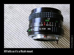KR tells us it's a Ricoh mount