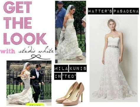 Mila Kunis' wedding dress in Ted   Happily Ever After