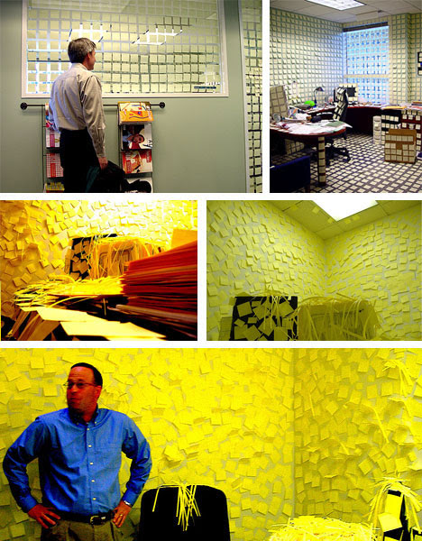 Post It Covered Office Prank