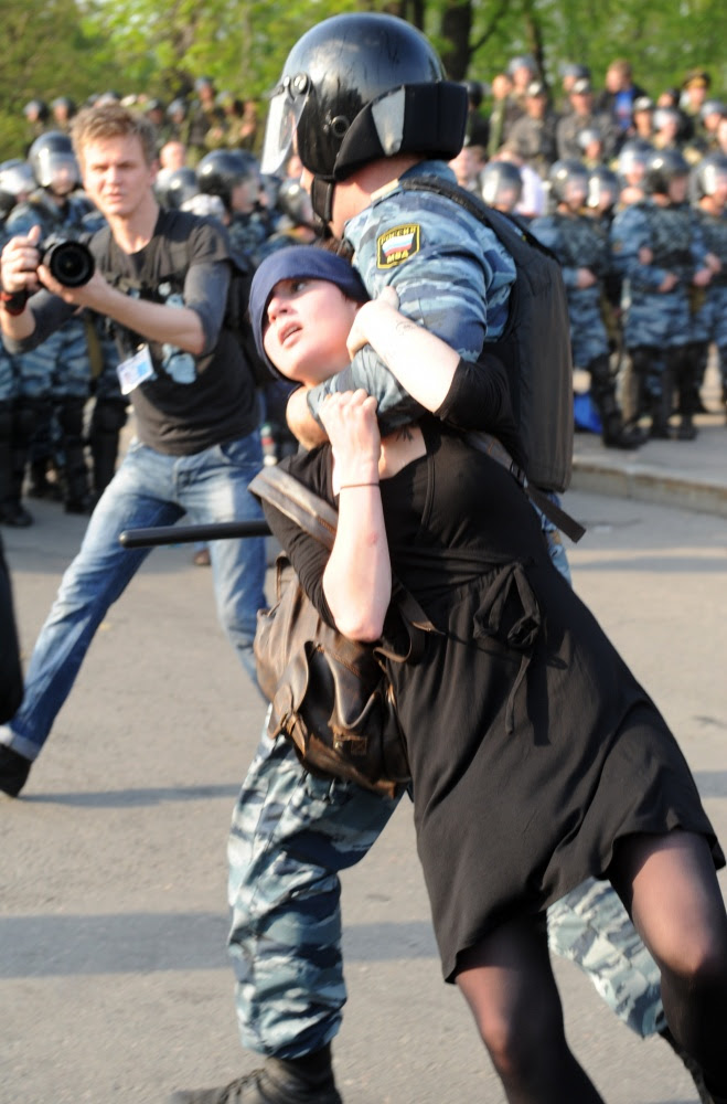 Задержание активистов оппозиции во время Марша миллионов в 2012 году. Фото RIA Novosti/Scanpix