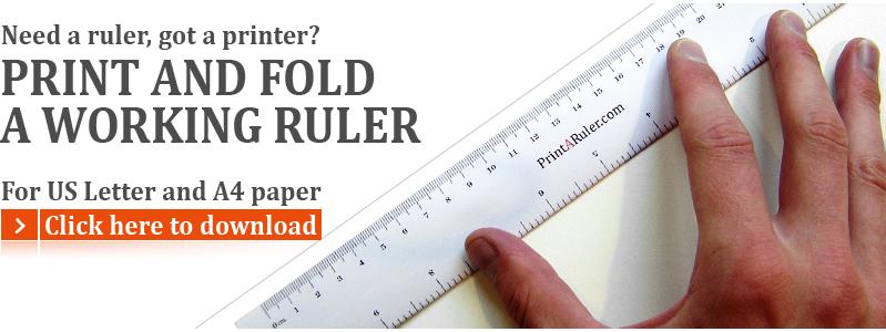 Free printable rulers and graph paper | PrintARuler.com