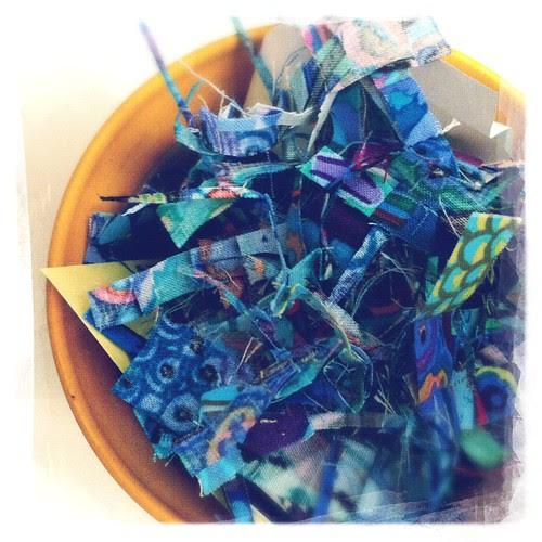 Scraps of blue