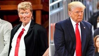 Meryl Streep, caracteritzada de Donald Trump (Getty)