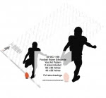 Football Kicker Silhouette Yard Art Woodworking Pattern - fee plans from WoodworkersWorkshop® Online Store - football,sports,silhouettes,shadows,black,yard art,painting wood crafts,scrollsawing patterns,drawings,plywood,plywoodworking plans,woodworkers projects,workshop blueprints