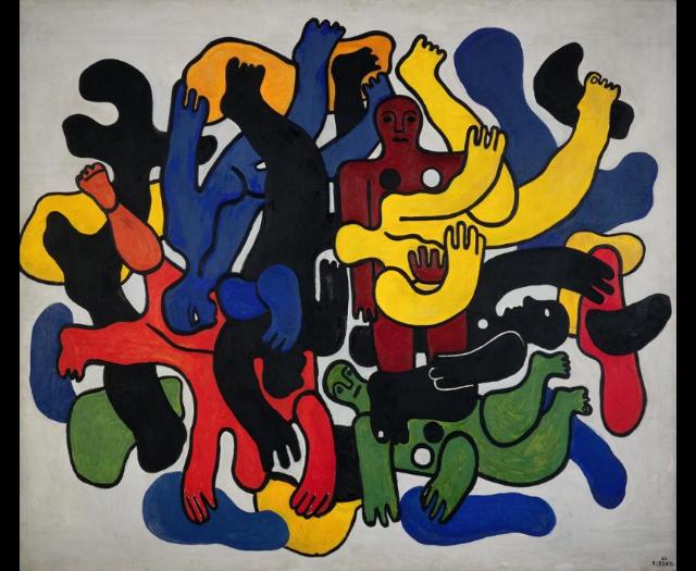Les grands plongeurs noirs (1944) de Fernand Léger (1881/1955)