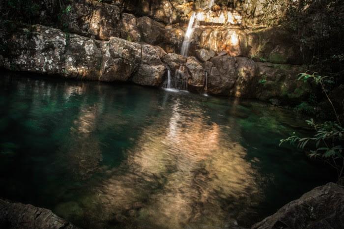 Loquinhas Waterfall in Alto Para?so de Goi?s, Brazil.