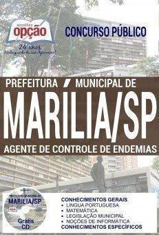 Apostila Concurso Prefeitura de Marília 2017 | AGENTE DE CONTROLE DE ENDEMIAS