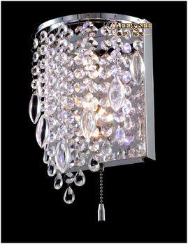 Modern Crystal Wall Sconces Light Crystal Wall Brackets Lamp Free ...