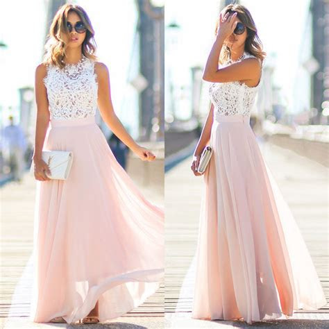 women sexy summer dress boho maxi long patchwork