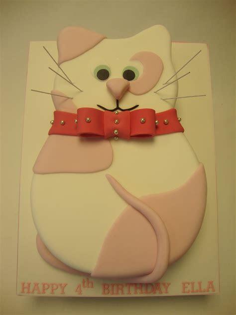 2D Shaped Pink Cat Cake   Celebration Cakes   Cakeology