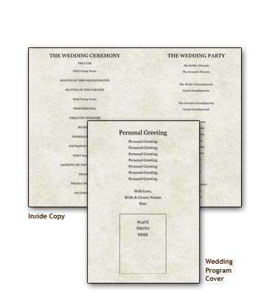 Free Templates to Create Your Own Wedding Programs