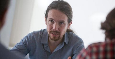 Pablo Iglesias, en la sede de Podemos en Madrid. / FOTO: DAVID SABADELL