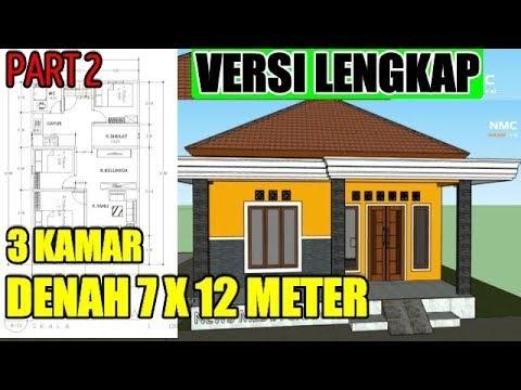 populer desain rumah minimalis modern di lahan 7 x12 meter