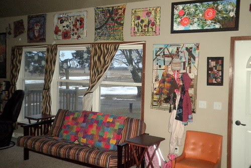 I hung a 'few' of my quilts up...